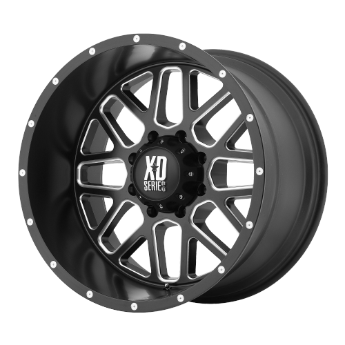 XD SERIES BY KMC WHEELS GRENADE SATIN BLACK MILLED